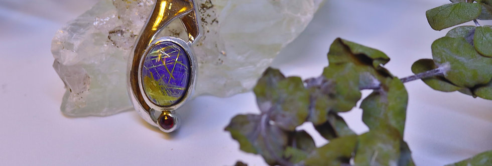 Lapis Lazuli with Rutilated Quartz