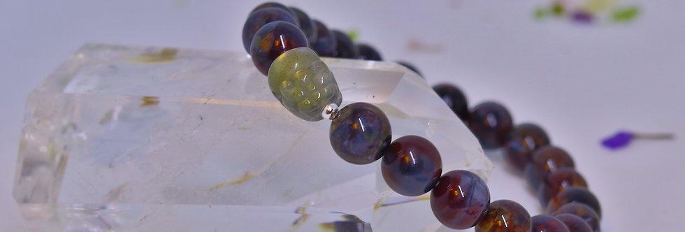 Pietersite Crystals (Red) with Labradorite