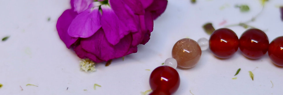 Red Agate with Moonstone 02