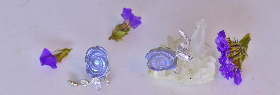 Labradorite Rose Ear Ring