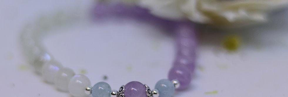 Lavender Jade with Moonstone