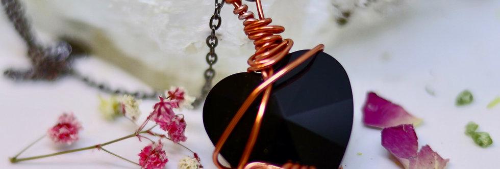 Swarovski Black Black Heart (28mm)