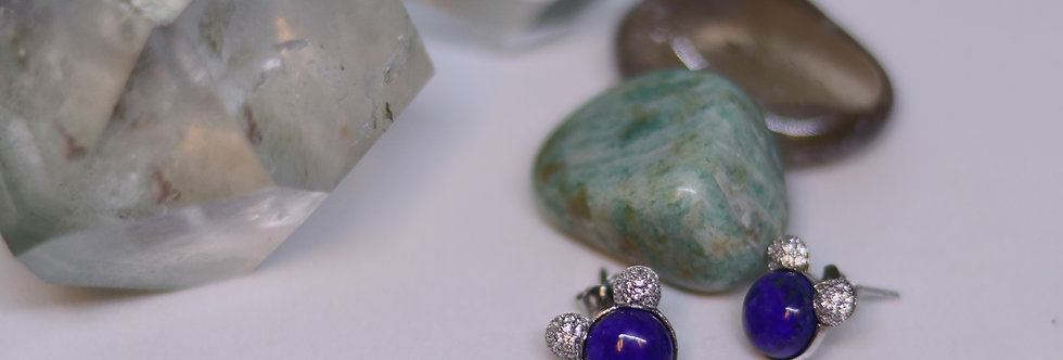 Lapis Lazuli Ear Ring (mickey)