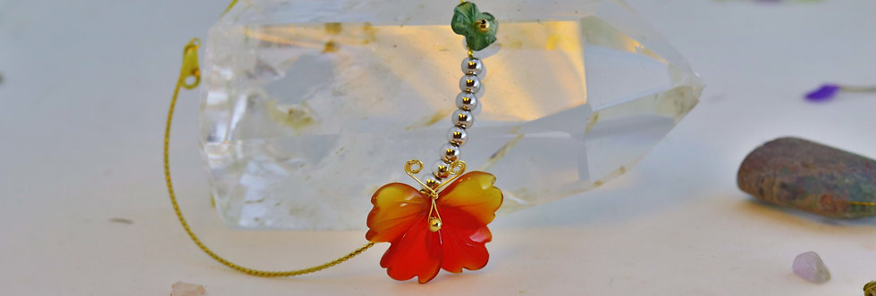 Red Agate Flower Bracelet