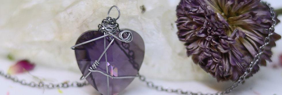 Swarovski Violet Heart (25mm)