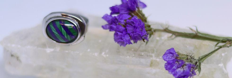 Malachite + Lapis Lazuili Ring