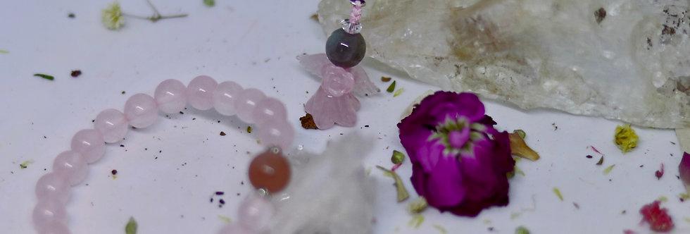 Rose Quartz with Moonstone