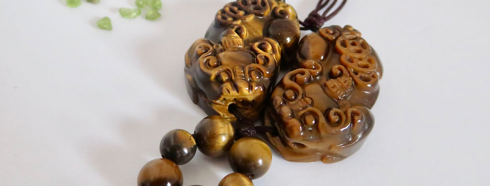 Tiger Eye Pi Siew With Infinity Knot