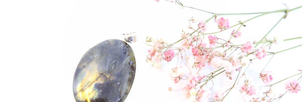 Labradorite Crystal Pendant 02