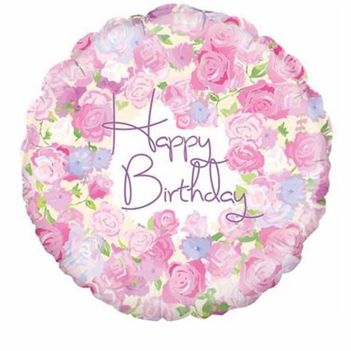 Happy  Birthday Pink Balloon