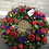 Thumbnail: Loose Rose, Spray Carnation & Lisianthus Wreath