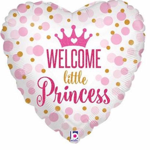 Welcome little Princess helium Balloon