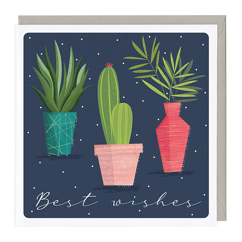 Best Wishes Plant Card