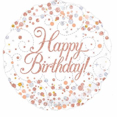 Happy Birthday Gold Balloon