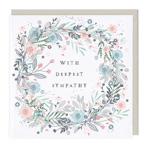 With Deepest Sympathy Blank card