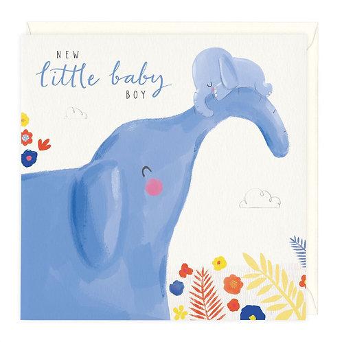 New Little Baby boy Card