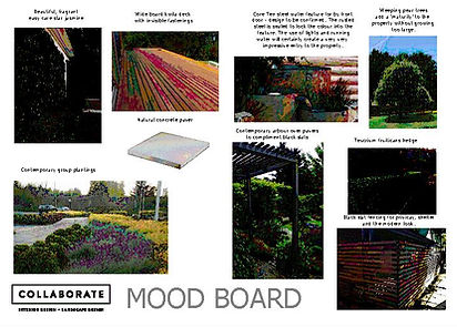 Blenheim based Landscape Designer Christo Saggers creates garden mood boards for clients