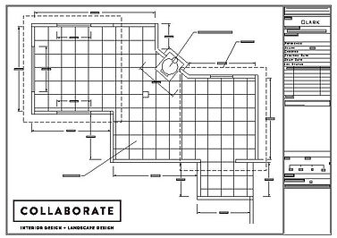 Collaborate - Blenheim Landscape and Interior Designers - structural plan of a courtyard garden.