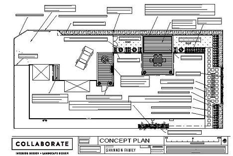 Blenheim Landscape Designer Christo Saggers Concept Plan for a new build.