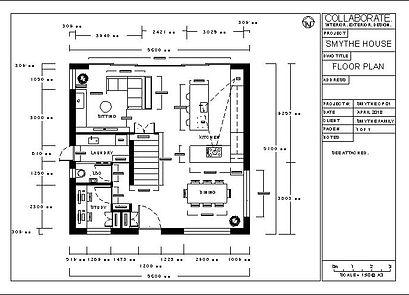 Blenhem based INterior Designer Jenny Saggers creates floor plans for her clients.