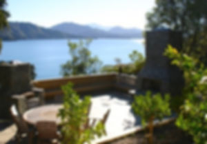 Outdoor fire place, the Marlborough sounds!