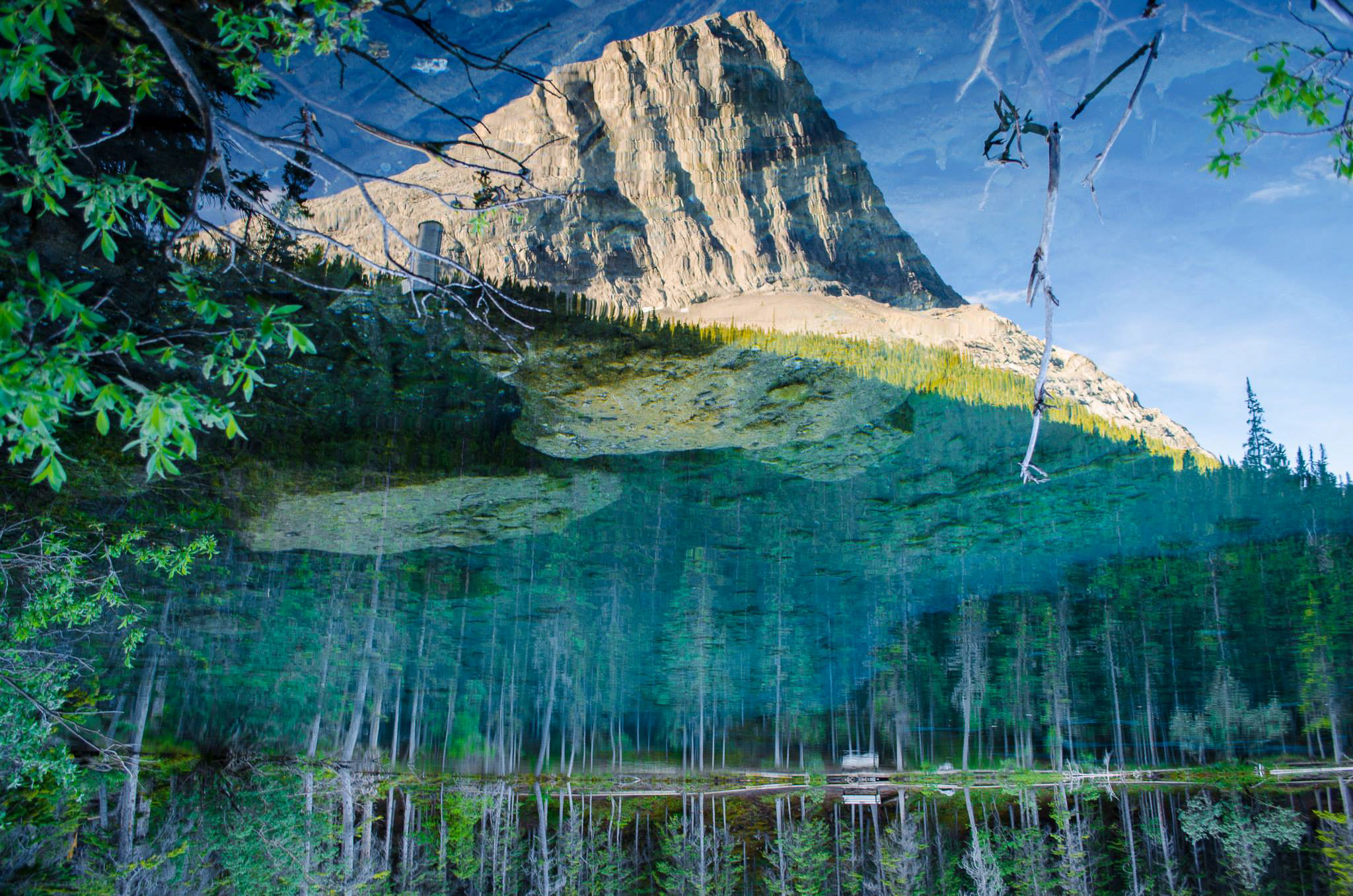 Canmore Ha Ling Reflection