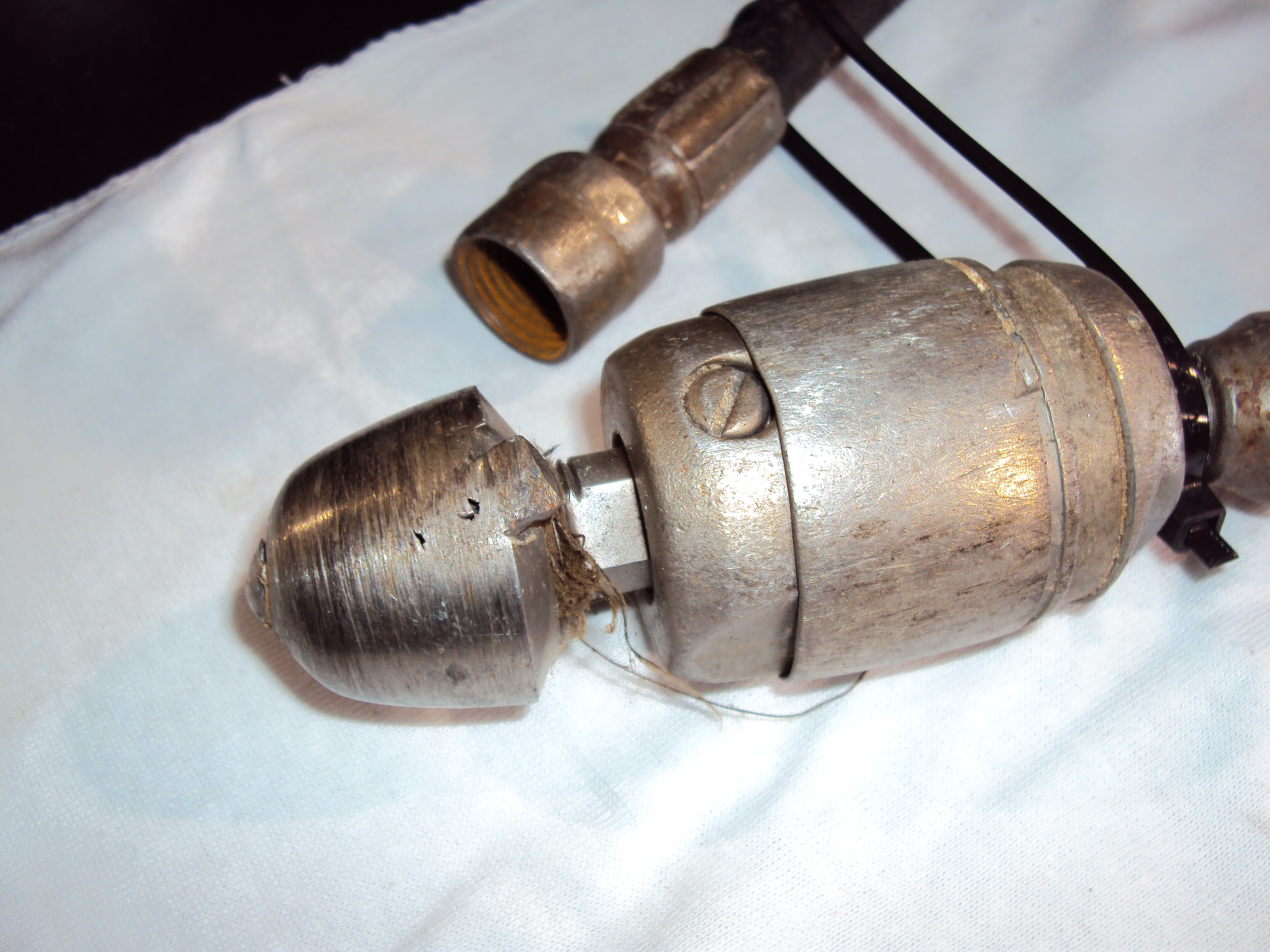 BEFORE - Old worn nozzle