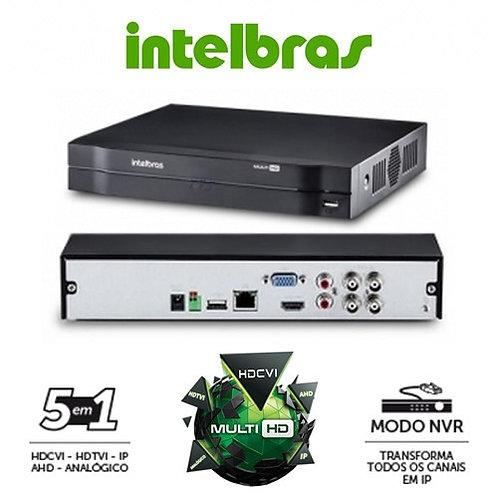 DVR Stand Alone Multi HD Intelbras MHDX-1004 - 4 Canais 1080N HDCVI, HDTVI, AHD,