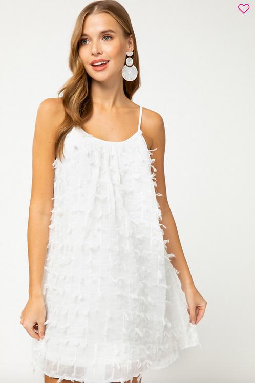 Tickled White Sleeveless Dress