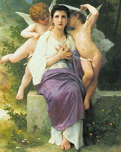 Le'Eveil du Coeur by Bouguereau