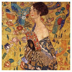 Lady with a Fan - Klimt
