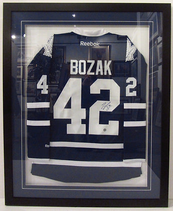Bozak Autographed framed Hockey Jersey