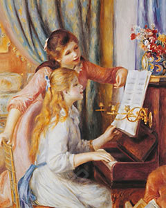 Two Girls at the Piano- Renoir
