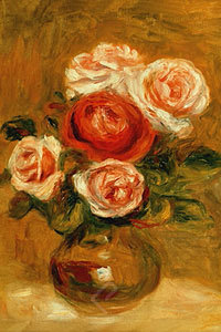 Rose in Copper Vase by Renoir