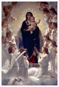 Virgin With Angels by Bouguereau