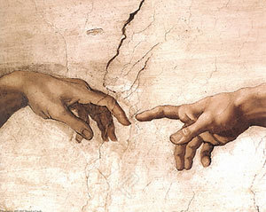 The Creation by Michaelangelo