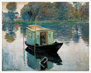 The Studio Boat - Monet