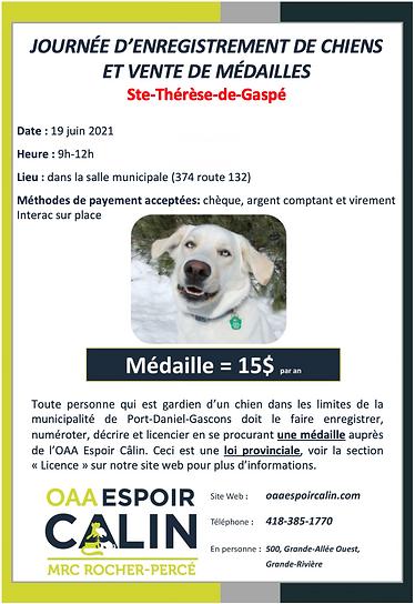 Ste-Thérèse-de-Gaspé - Journée enregistr