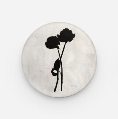 Born - Black Rose Pin Badge