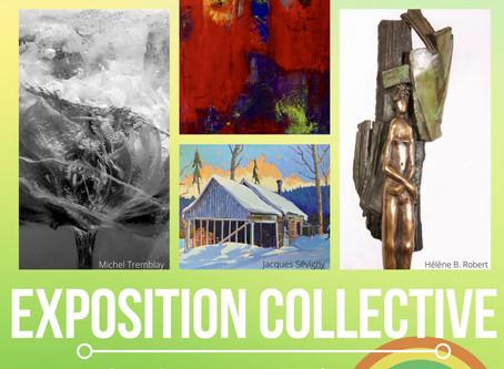 Expo collective Maison des Arts Saint-Faustin , 8 août - 7 nov.  J'y serai le 8 août, de 11h-17h.