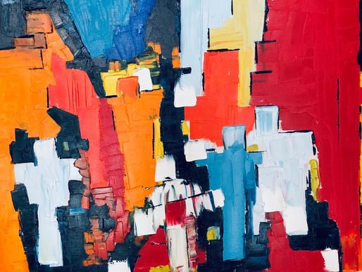 """Participation à l'exposition """"Oser le rouge"""" à la galerie mp trèsArt, d'octobre à la fin 2021."""