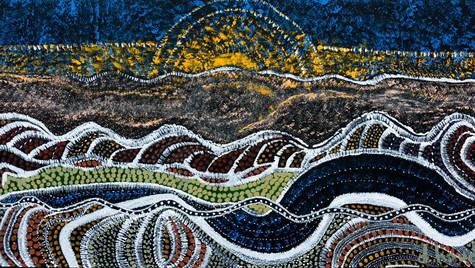 Couché de soleil en Nouvelle Zélande  co