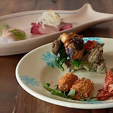 本日の魚介・プーリア式小皿前菜盛合わせ