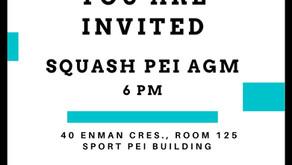 Squash PEI AGM MAY 26