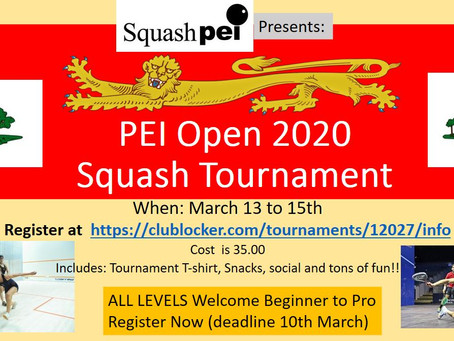 PEI OPEN 2020 Canceled