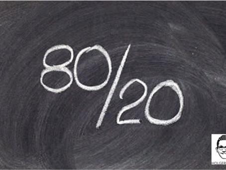 Das 80/20 Prinzip - oder - Wie du mehr Erfolg mit weniger Aufwand erreichst!