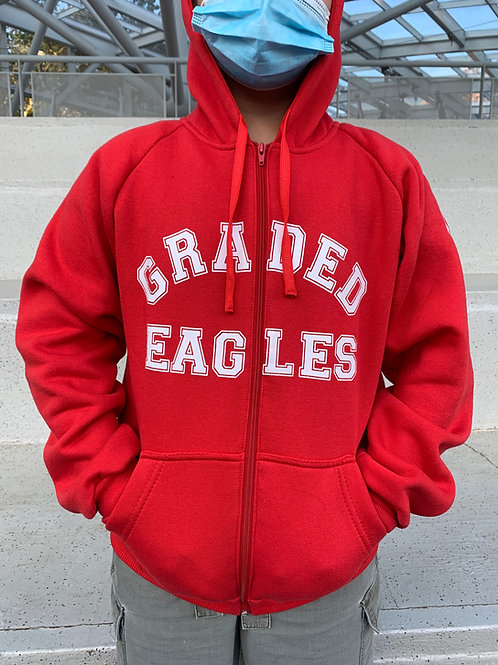Red Hoodie with Zipper