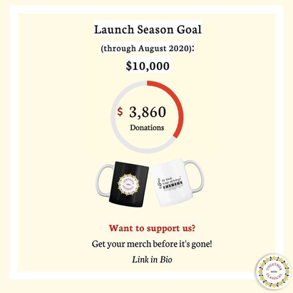 Donation Update!!! Almost at 40% of our Launch Season Goal!