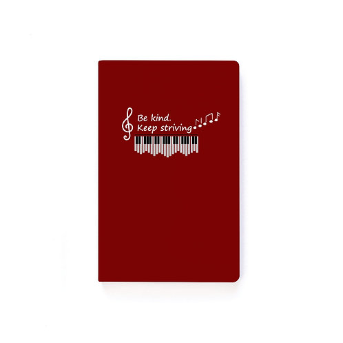 Signed Together with Classical Red Softcover Notebook - Ruled Line