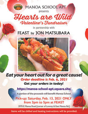 Hearts are Wild Valentine's Fundraiser with FEAST